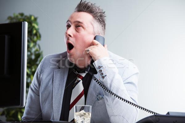 Trabalhar difícil trabalhador de escritório extremo estresse tédio Foto stock © Giulio_Fornasar