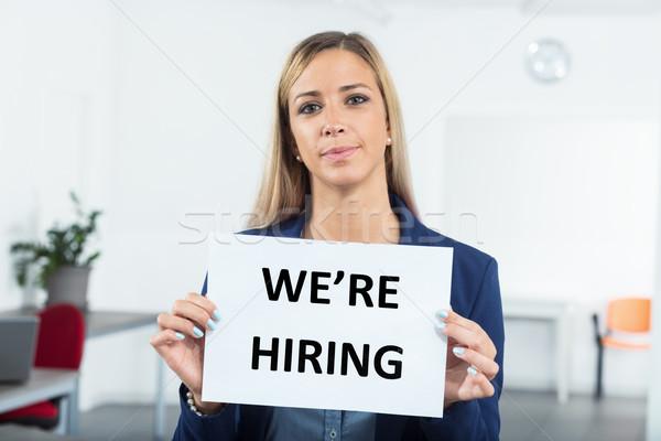 what are you waiting for we're hiring Stock photo © Giulio_Fornasar
