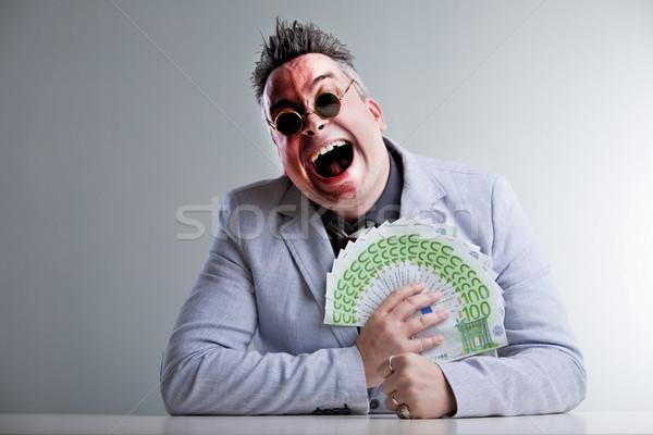 Działalności człowiek ceny siwe włosy dziwny okulary Zdjęcia stock © Giulio_Fornasar