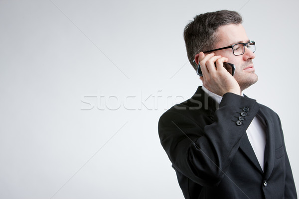 business man phoning with a mobile Stock photo © Giulio_Fornasar
