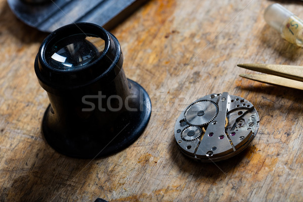 Watchmaker or horologists work bench Stock photo © Giulio_Fornasar