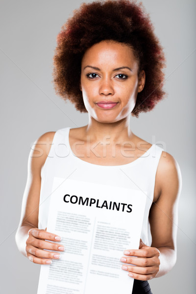 receiving another complaint means problems Stock photo © Giulio_Fornasar