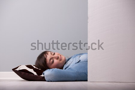 sleeping relaxed on the floor on a pillow Stock photo © Giulio_Fornasar