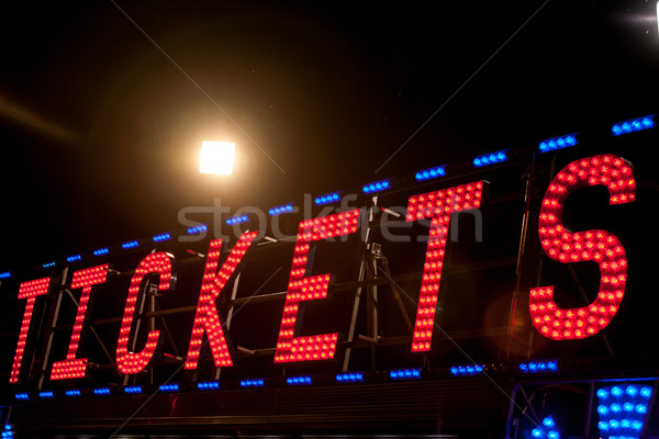 electric .COM sign on a scaffolding in the night Stock photo © Giulio_Fornasar