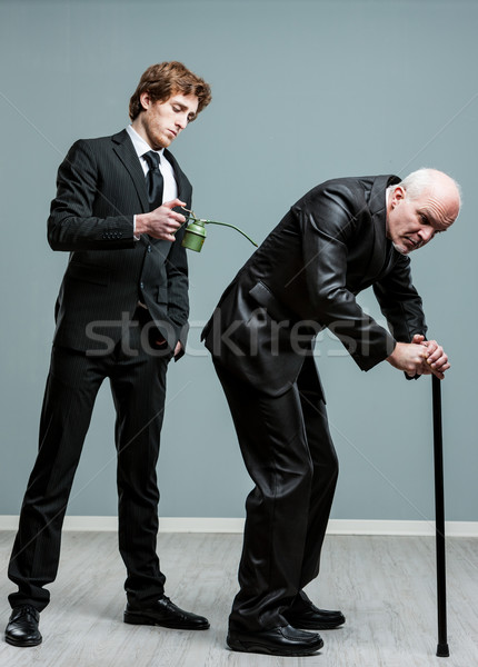 Generations concept of old and young men Stock photo © Giulio_Fornasar