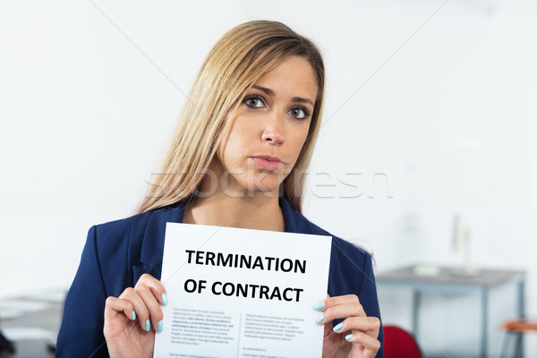 sad woman has just been fired Stock photo © Giulio_Fornasar