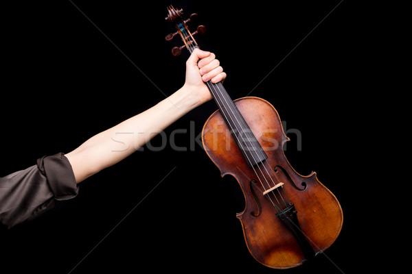 勝利 バイオリン 右 腕 ストックフォト © Giulio_Fornasar