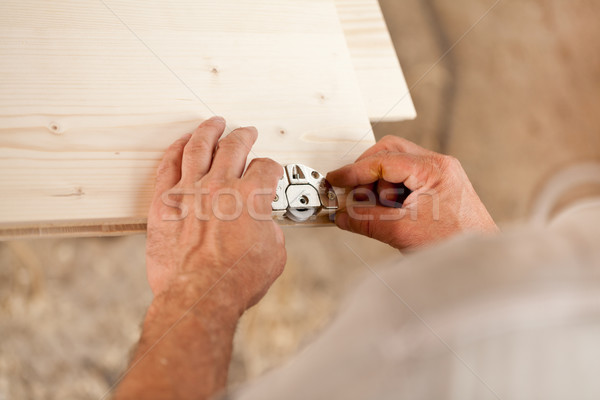 focus on detail of a carpenter's work Stock photo © Giulio_Fornasar