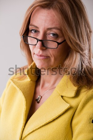 real serious and intelligent woman Stock photo © Giulio_Fornasar