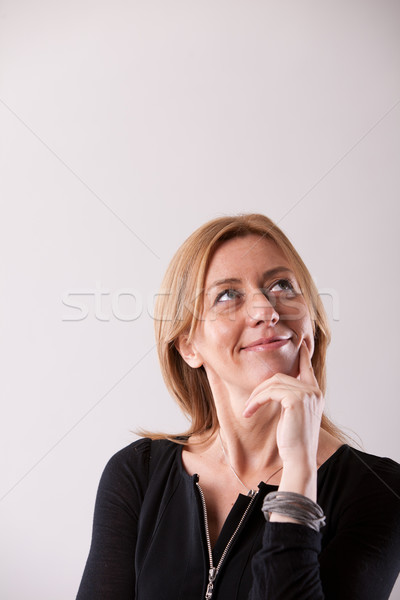 mature woman with a great idea Stock photo © Giulio_Fornasar
