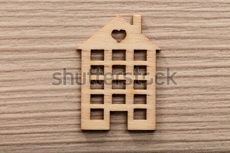 little wooden house figure background or wallpaper Stock photo © Giulio_Fornasar