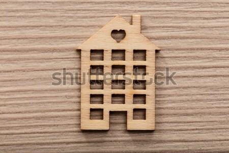 Pequeno casa descobrir papel de parede coração Foto stock © Giulio_Fornasar