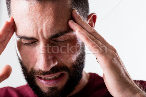 headache of this man requires painkiller Stock photo © Giulio_Fornasar