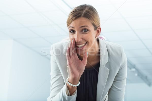office worker revealing secrets Stock photo © Giulio_Fornasar