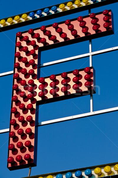 手紙 サーカス 電気 にログイン ストックフォト © Giulio_Fornasar