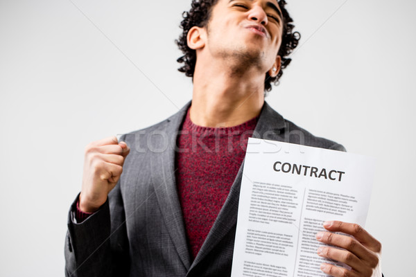 very satisfied young employed man Stock photo © Giulio_Fornasar