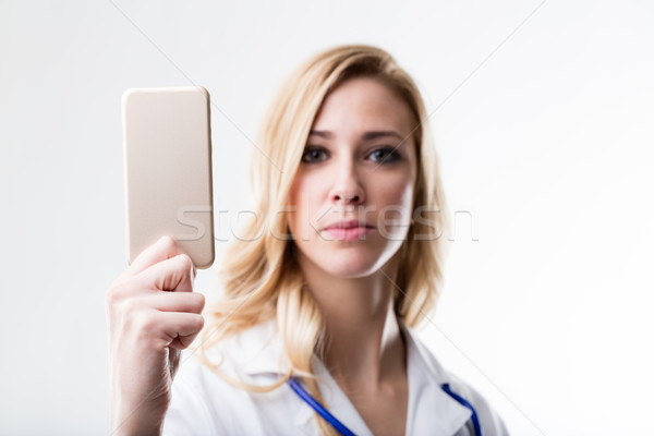 Konzerv online mobil orvosi orvos termék Stock fotó © Giulio_Fornasar