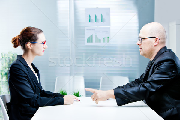 business man and woman discussing Stock photo © Giulio_Fornasar
