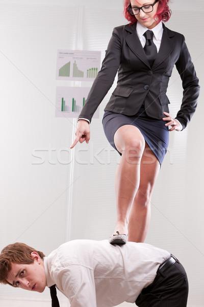 Man vs vrouw werkplek geslacht werk Stockfoto © Giulio_Fornasar