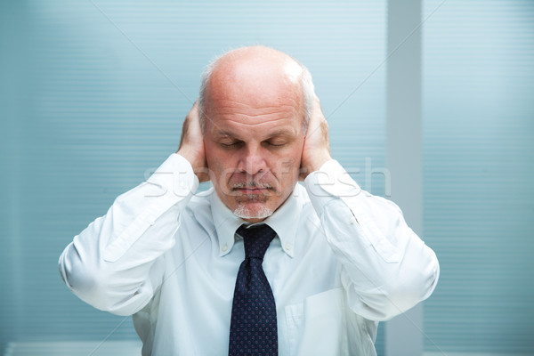 can't hear (closed eyes) Stock photo © Giulio_Fornasar