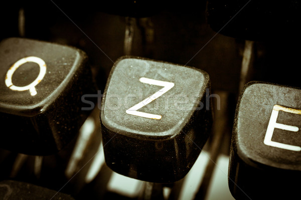 письме Vintage машинку клавиатура другой Сток-фото © Giulio_Fornasar
