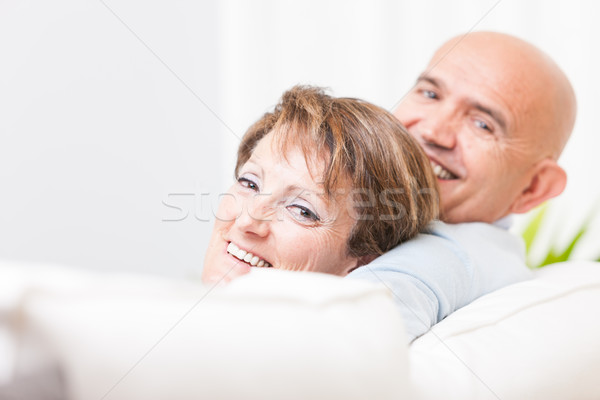 Attractive happy friendly middle-aged couple Stock photo © Giulio_Fornasar