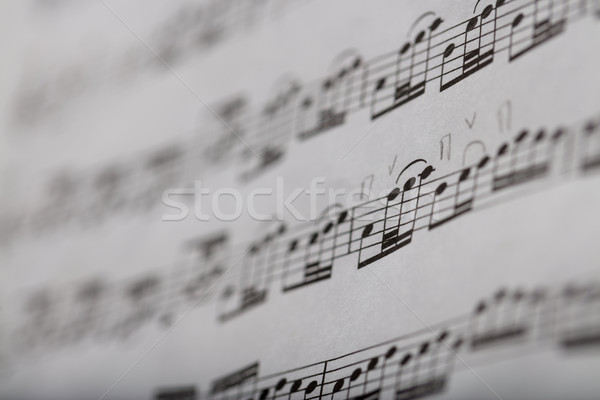 detail of some notes on a music score Stock photo © Giulio_Fornasar