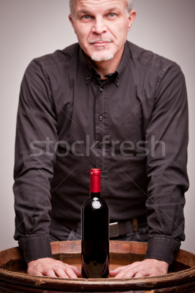proud wine maker man with a bottle Stock photo © Giulio_Fornasar