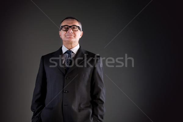 proud old man with glasses Stock photo © Giulio_Fornasar