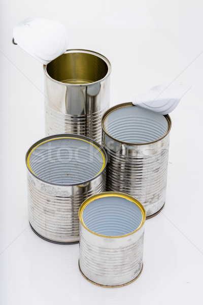 tidy group of used tin can Stock photo © Giulio_Fornasar