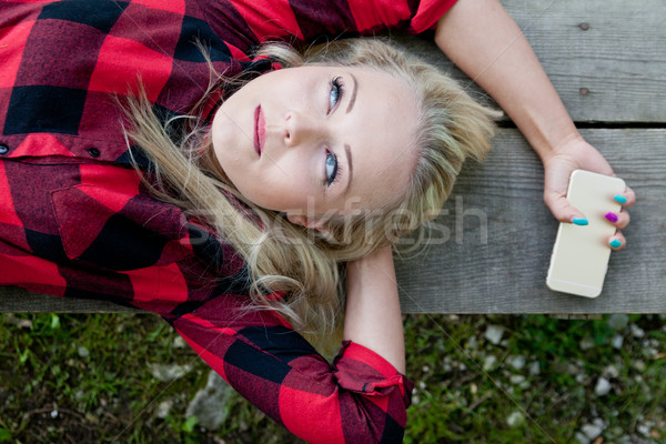 imagine all the people blonde as I am Stock photo © Giulio_Fornasar
