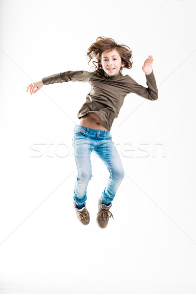 girl jumping light as like as a feather Stock photo © Giulio_Fornasar