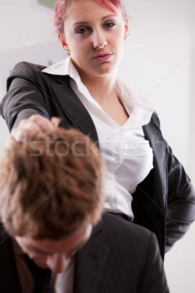 Hombre vs mujer lugar de trabajo trabajo Foto stock © Giulio_Fornasar
