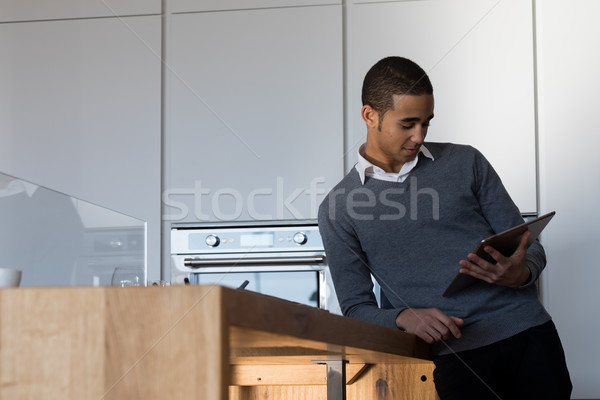 upperclass student or worker with digital tablet  Stock photo © Giulio_Fornasar