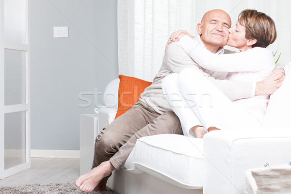 Romantic relaxed barefoot middle-aged couple Stock photo © Giulio_Fornasar