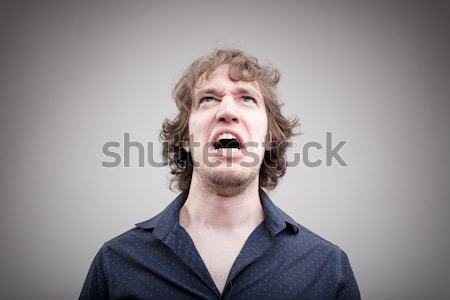 angry man shouting and cursing Stock photo © Giulio_Fornasar