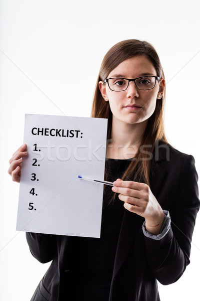 checklist held by a very organized woman Stock photo © Giulio_Fornasar