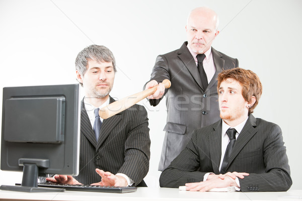 wrong ways of managing a teamwork Stock photo © Giulio_Fornasar