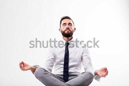 ohmm guru meditaion business man Stock photo © Giulio_Fornasar