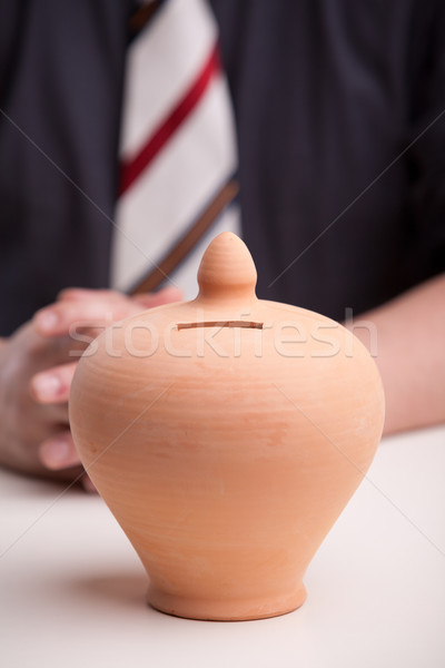 earthenware moneybox means savings are needed Stock photo © Giulio_Fornasar