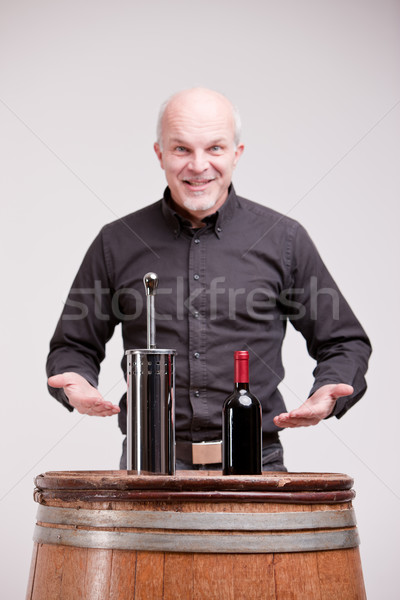 liar trying too fool about wine Stock photo © Giulio_Fornasar