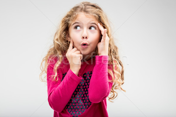 Fun playful little girl with a teasing expression Stock photo © Giulio_Fornasar