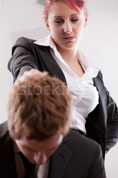 Uomo vs donna lavoro genere lavoro Foto d'archivio © Giulio_Fornasar