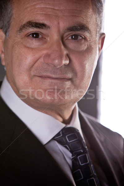 old involved business man thinking  Stock photo © Giulio_Fornasar