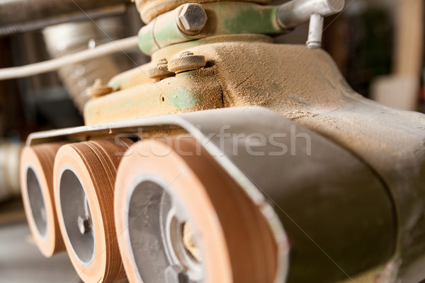 detail of machinery wheels in a woodworker  workshop Stock photo © Giulio_Fornasar