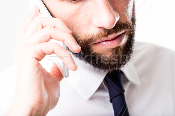 Homem de negócios telefone telefone móvel mãos Foto stock © Giulio_Fornasar