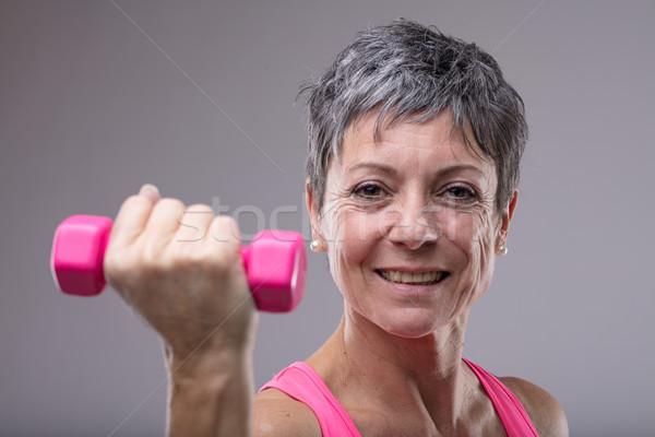 счастливым здорового женщину красочный Сток-фото © Giulio_Fornasar