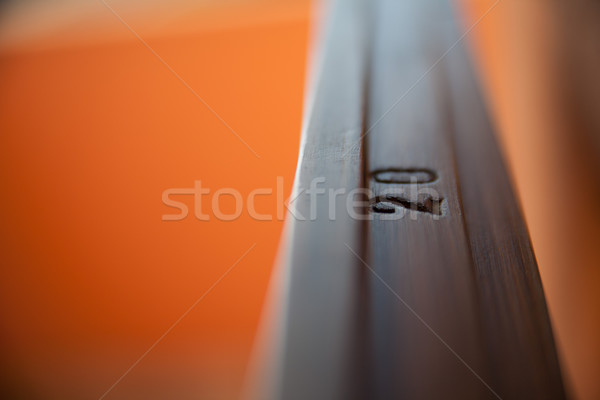 detail of a 20 on a polished wooden fixture Stock photo © Giulio_Fornasar