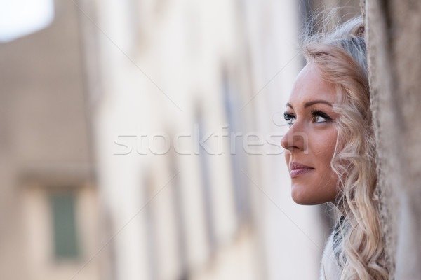 concept of a young tourist woman Stock photo © Giulio_Fornasar