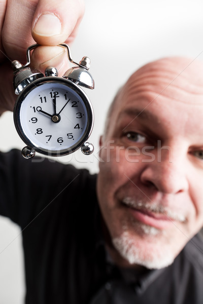 wideangle closeup man with time passing Stock photo © Giulio_Fornasar